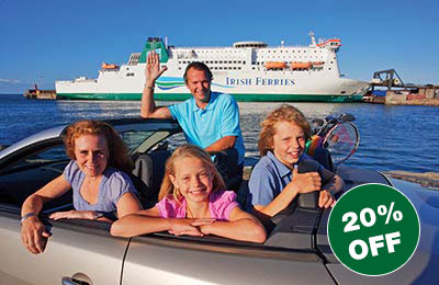 20% off SALE Motorist Fares to Britain and Ireland